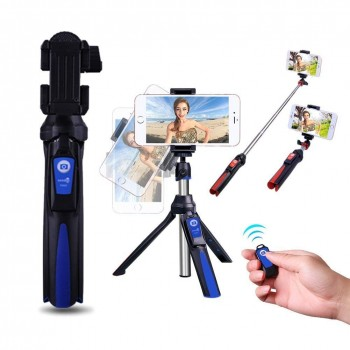 Seedoo Selfie Stick ,Extendable Stick + Bluetooth Remote Control + Tripod