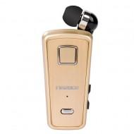 Fineblue F980 Ακουστικό Headset Bluetooth με Δόνηση & Επεκτεινόμενο Καλώδιο - χρυσός