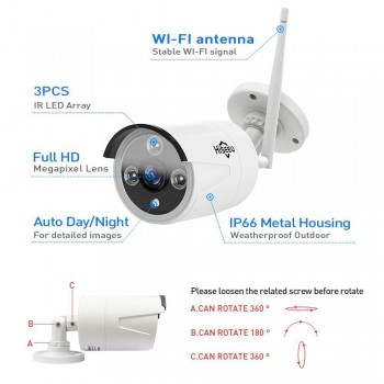 CCTV CAMERA AHD EV6930/EV-X6H9 2MP/1080P OUTDOOR EVAMM