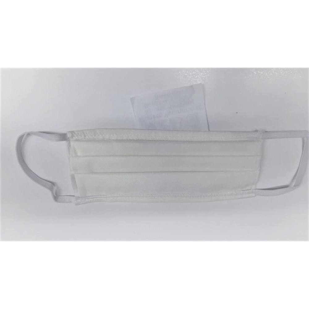 Face Mask Cotton (5003) Reusable Fabric Face Mask White