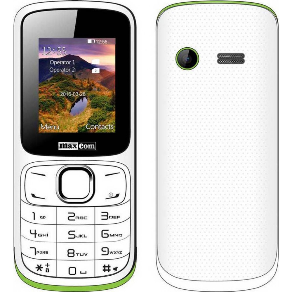 Maxcom MM129 Dual Sim Green White (Greek Menu)