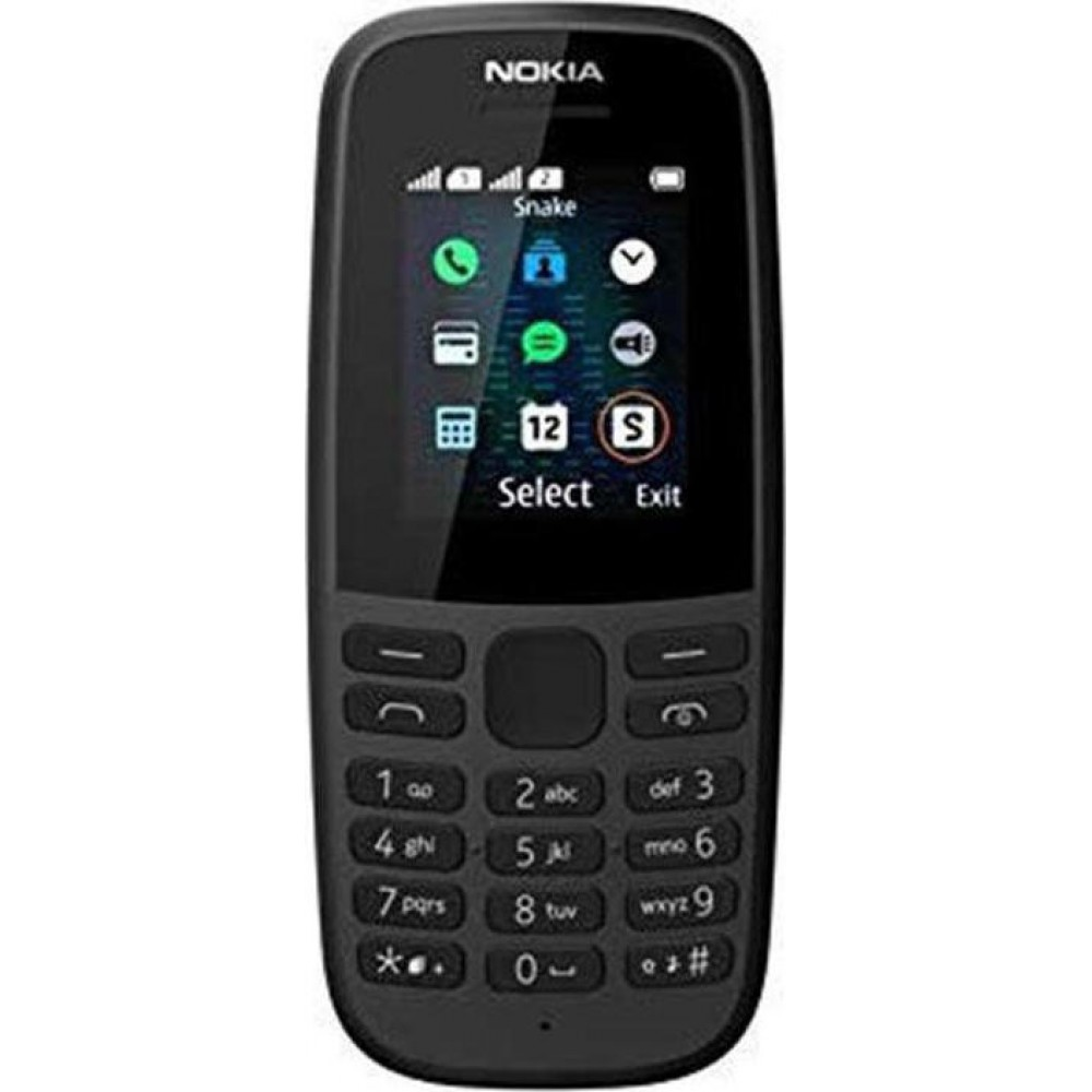 """Nokia 105 (2019) 4th Edition Dual Sim 1.77"""" Μαύρο GR"""