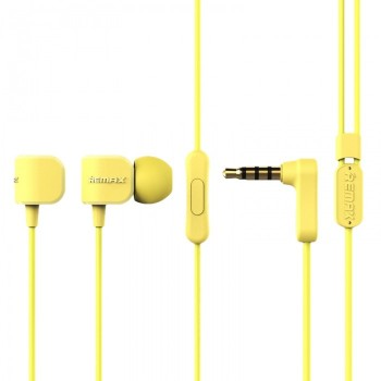 Remax RM-502 In-ear Stereo Wired Music Headset Earphone 3.5mm Jack - Κίτρινος