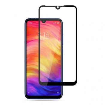 Tempered Glass 9H Full Face & Full Glue For Xiaomi Redmi Note 7 _ Black