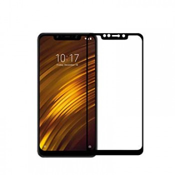 Tempered Glass Xiaomi Pocophone F1 Full Cover 9H Full Glue Προστασίας Οθόνης  - Black