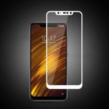 Xiaomi Pocophone F1 Tempered Glass Full Glue Προστασίας - λευκό
