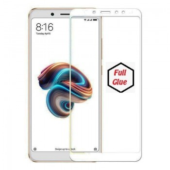 Xiaomi Redmi S2 Full Cover 9H Tempered Glass Full Glue Προστασίας λευκό