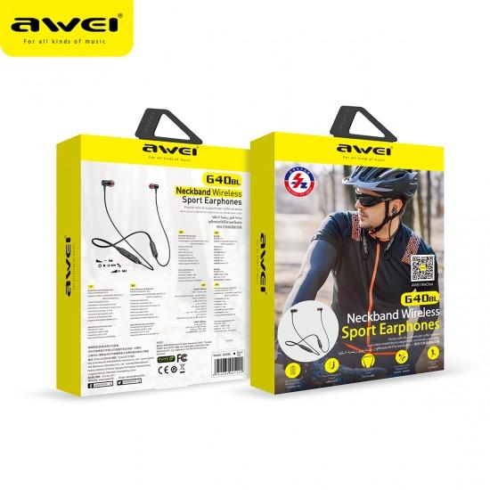 Ακουστικό Bluetooth Με Neckband AWEI G40BL - Black