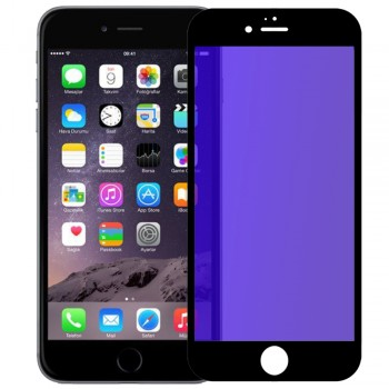 Tempered Anti Blue Glass 9H Full Face & Full Glue For iPhone 6 Plus/6s Plus _ Black