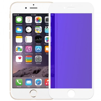Tempered Anti Blue Glass 9H Full Face & Full Glue For iPhone 6/6s _ White