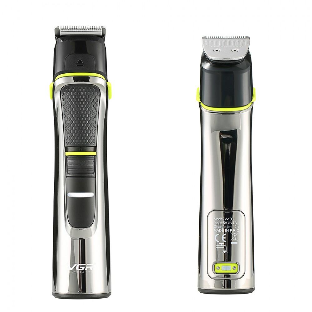 VGR V-100 5 In1 Professional Μηχανές Κουρέματος  (haircut machine/electric shaver/nose trimmer/beard trimmer/hair carving)
