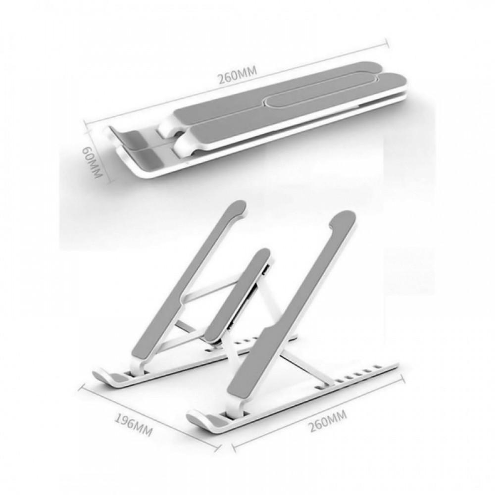 Andowl P1 Πτυσσόμενη βάση Laptop με 6 ρυθμιζόμενα ύψη Λευκό