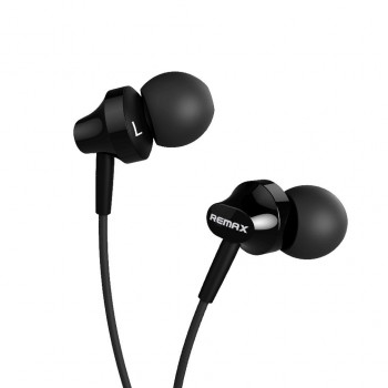 Remax RM-512 In-ear Stereo Wired Music Headset Earphone 3.5mm Jack - Black
