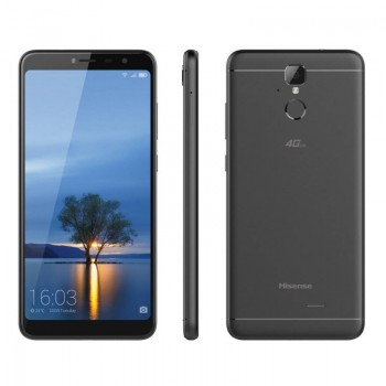 """Hisense F24 Infinity 4G LTE (Dual SIM) 5.99 """"Android 7.0 1440 * 720 HD + 2GB / 16GB Black with Case & Tempered Glass"""