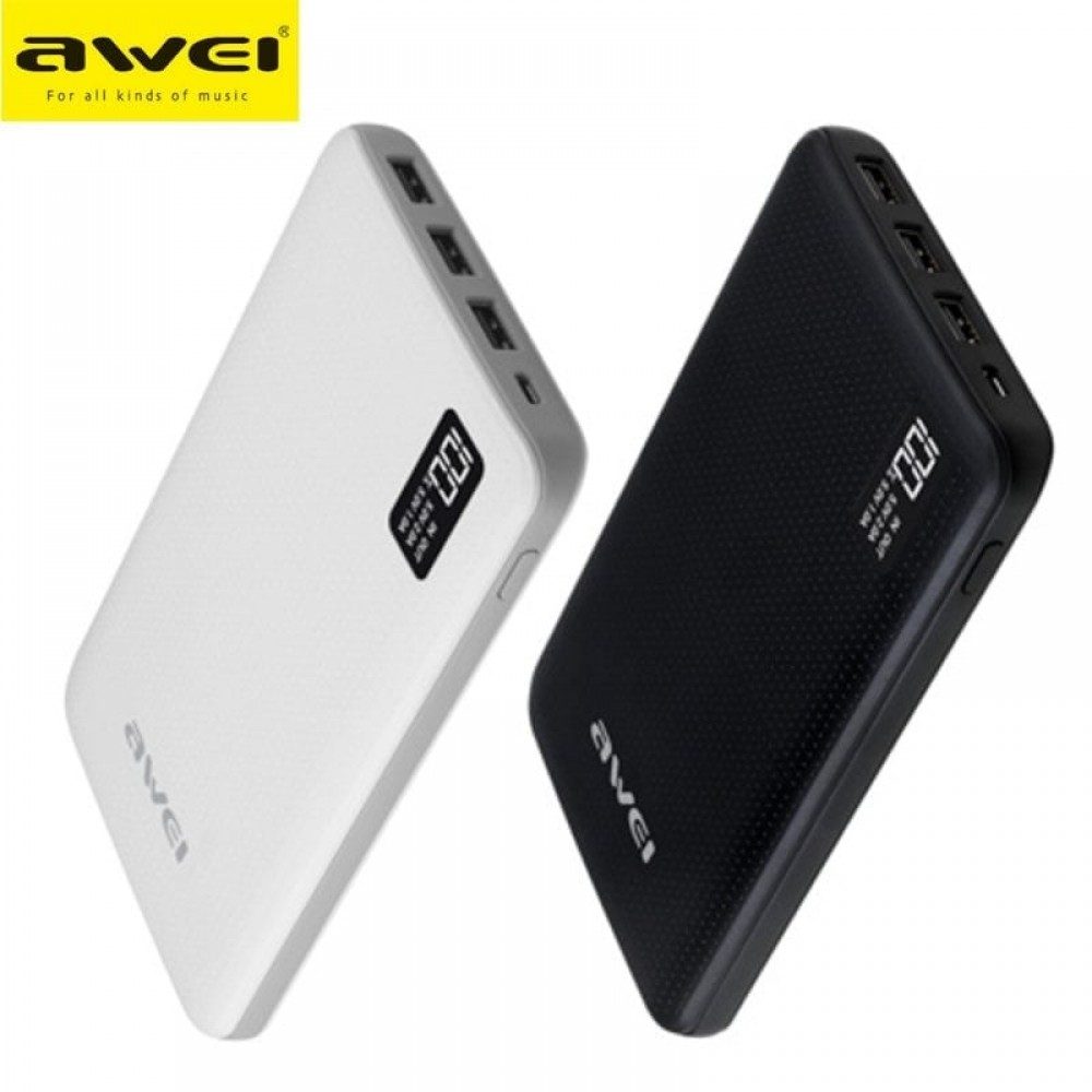 Awei P56K Powerbank 30,000mAh - Μαύρο