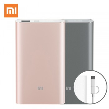Xiaomi Mi Power Bank Pro 10,000mAh Type-C - Χρυσό