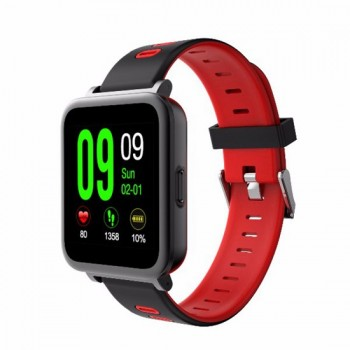 Smartwatch Frezen SN10 Bluetooth Music Heart Rate Sleep Monitor Sport Wristwatch for iOS Android Red