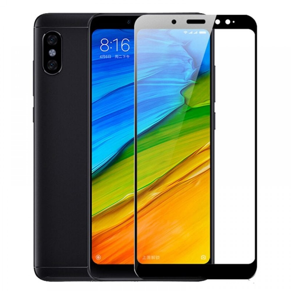 Xiaomi Redmi Note 5 Full Cover Tempered Glass 5D Hybrid Full Glue Τζαμάκι Γυαλί Προστασίας  - Mαύρο