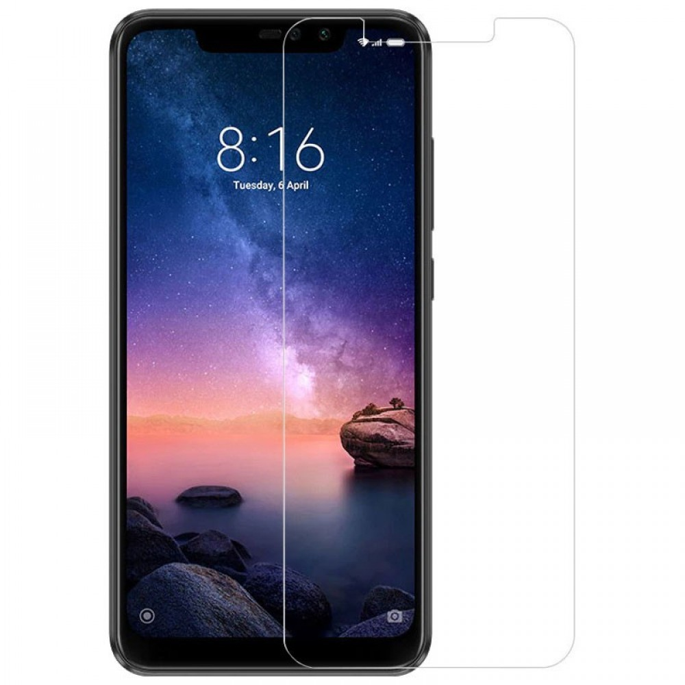 Tempered Glass 9H Normal For Xiaomi Redmi Note 6 Pro _ Transparent