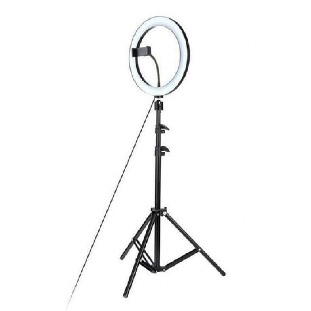 Portable LED Ring Light With Tripod Stand And Phone Holder_46CM
