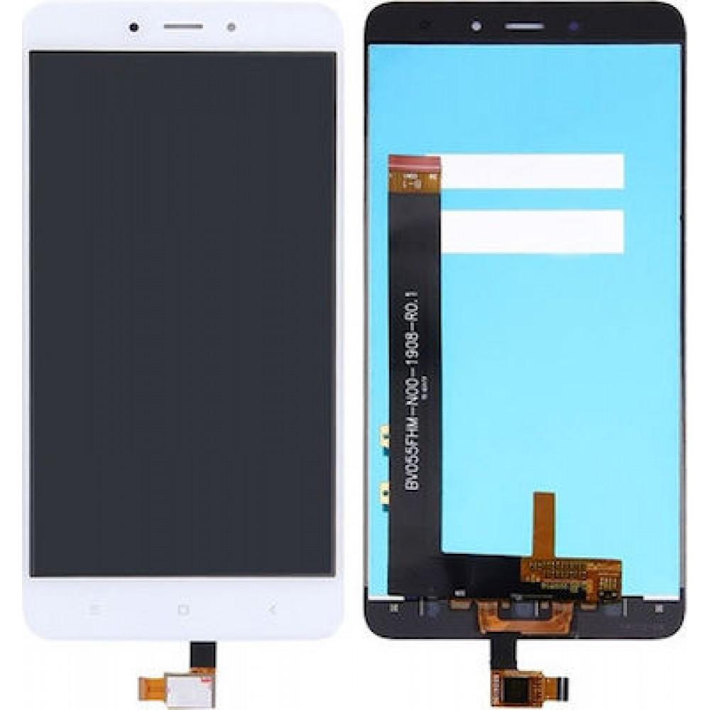 Οθονη Lcd Με Μηχανισμο Αφης Για Xiaomi Redmi Note 4 White