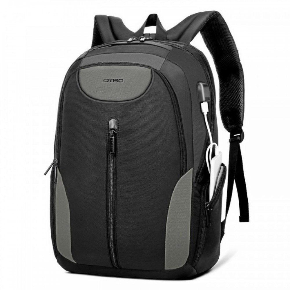 DTBG D8230W 17.3 Inch - Anti Theft With USB Charging Port Durable Lightweight Laptop Backpack - Black