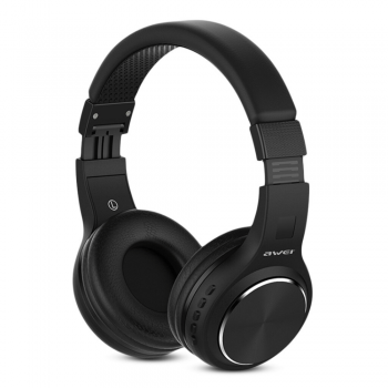 AWEI A600BL Wireless Bluetooth Over-Ear Headphones Stereo Sound Noise Canceling With MIC BLACK