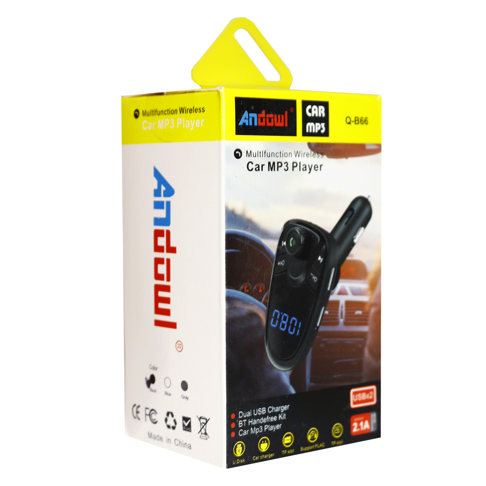MP3 Player Αυτοκινήτου, 2USB/TF/Bluetooth/FM – Andowl Q-B66 - Mαύρο