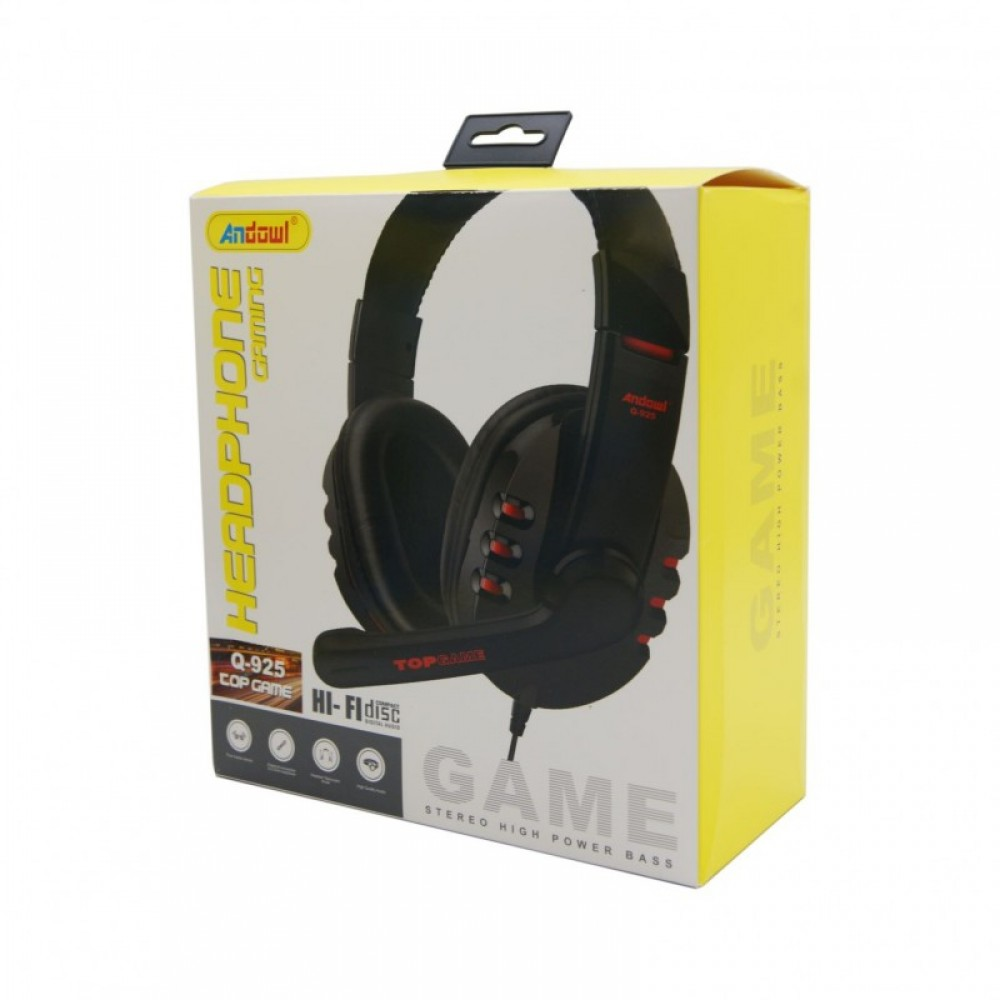 ANDOWL Q-925 GAMER HEADSET WITH MICROPHONE