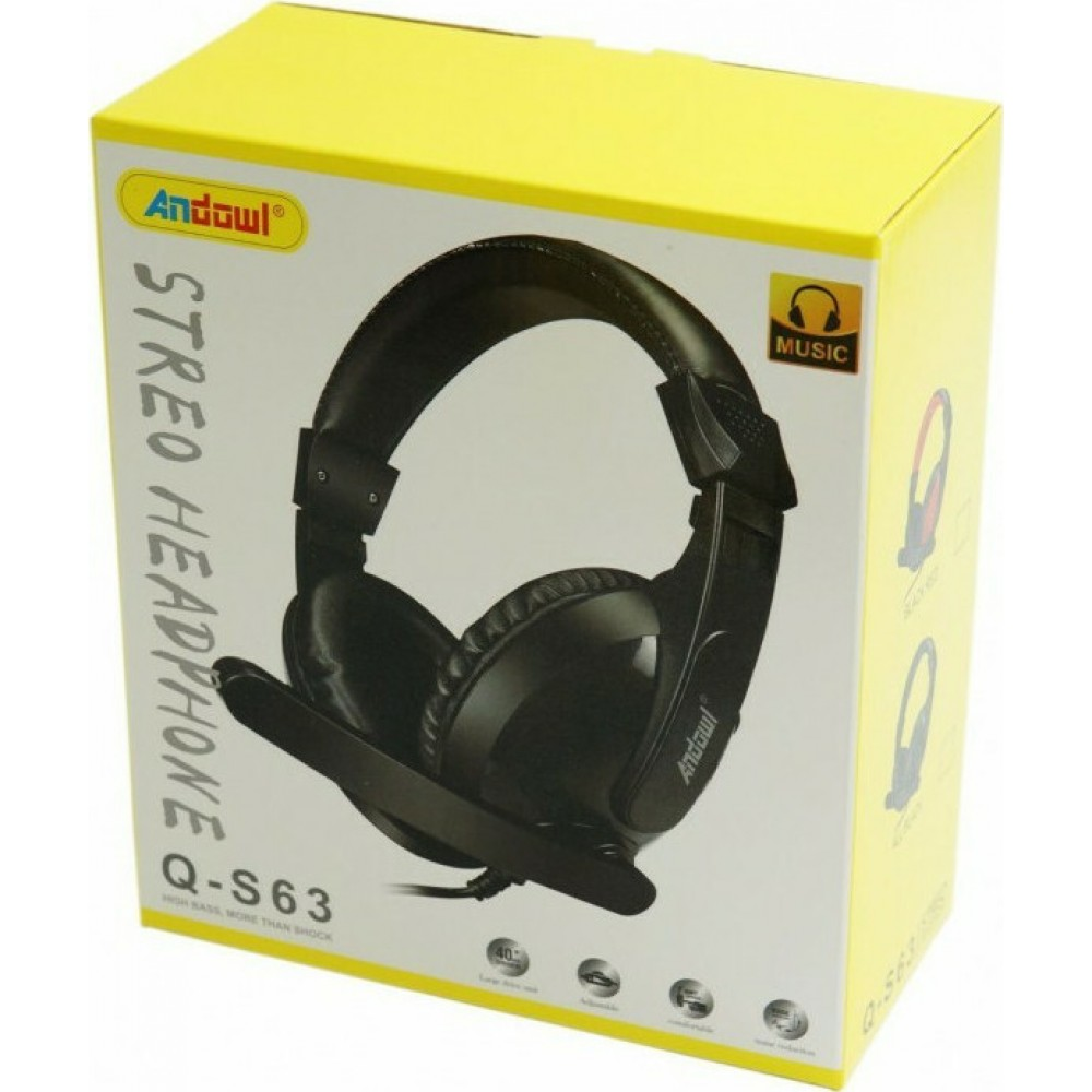 ANDOWL Q-S63 GAMER HEADSET WITH MICROPHONE