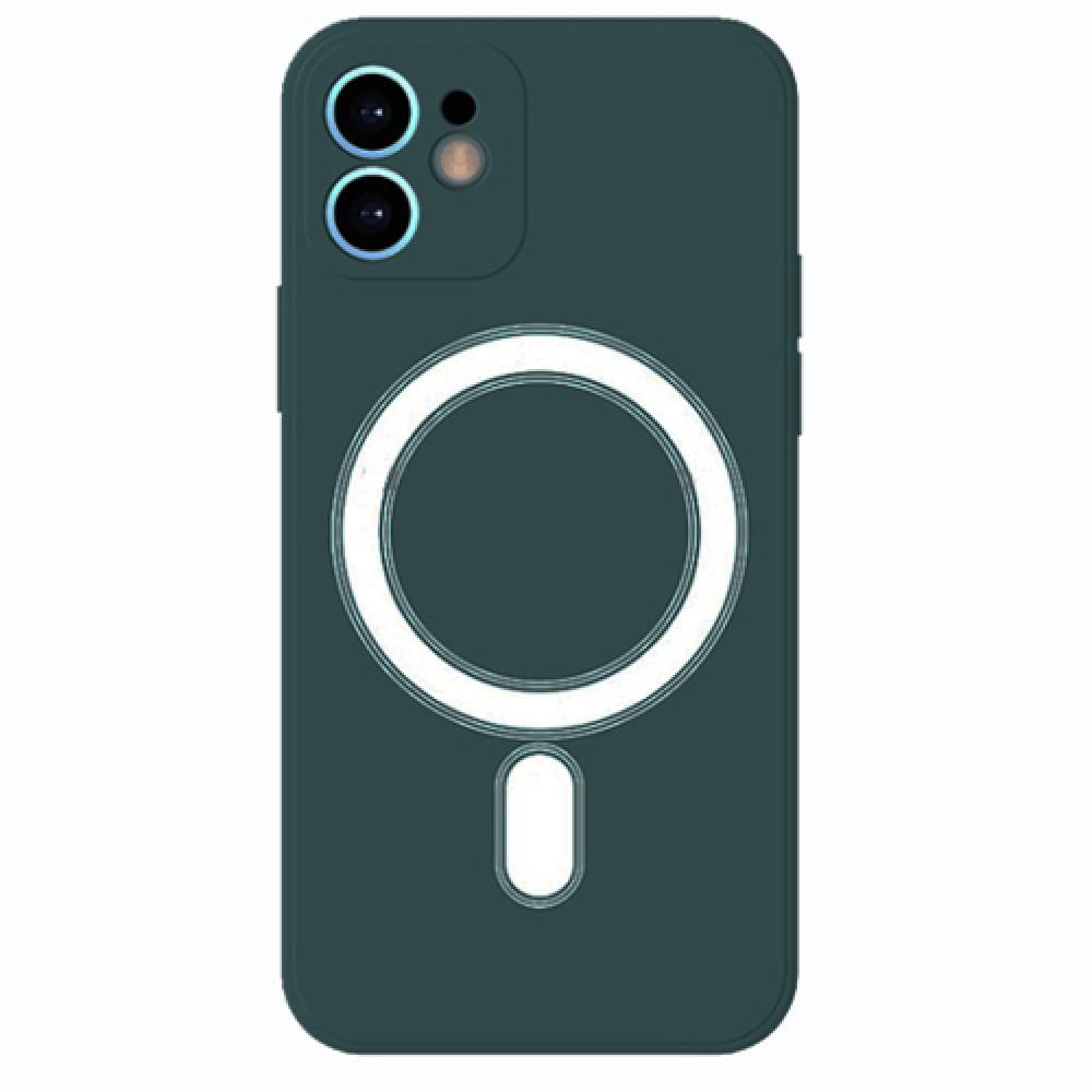 Oem Πλαστικό θήκη Με MagSafe για iPhone 12 - Green