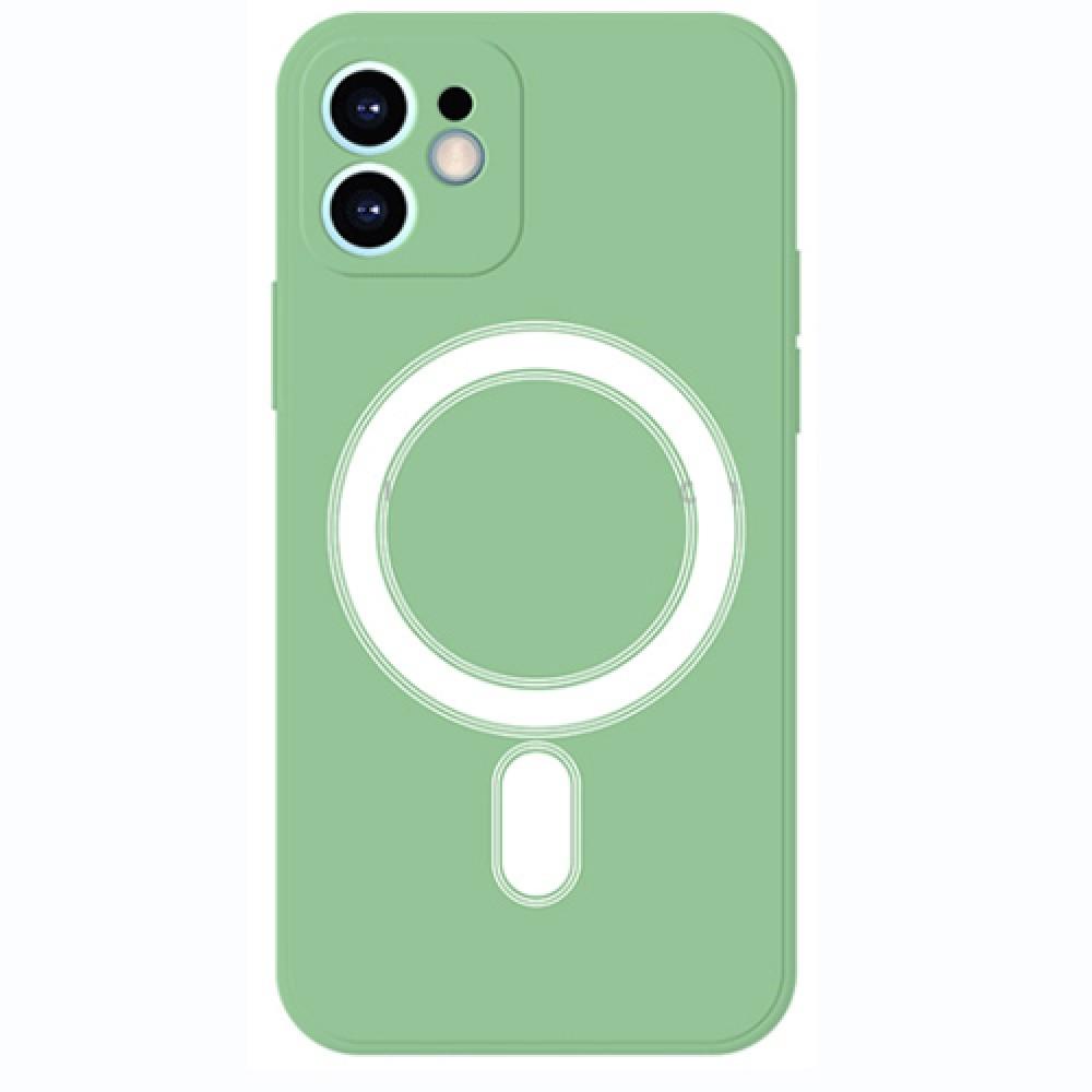 Oem Πλαστικό θήκη Με MagSafe για iPhone 12 -  Light green