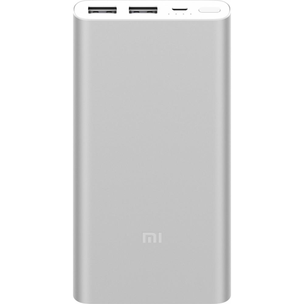 XIAOMI MI POWER BANK 2S DUAL USB PORTS 10000MAH (PLM09ZM) - SILVER