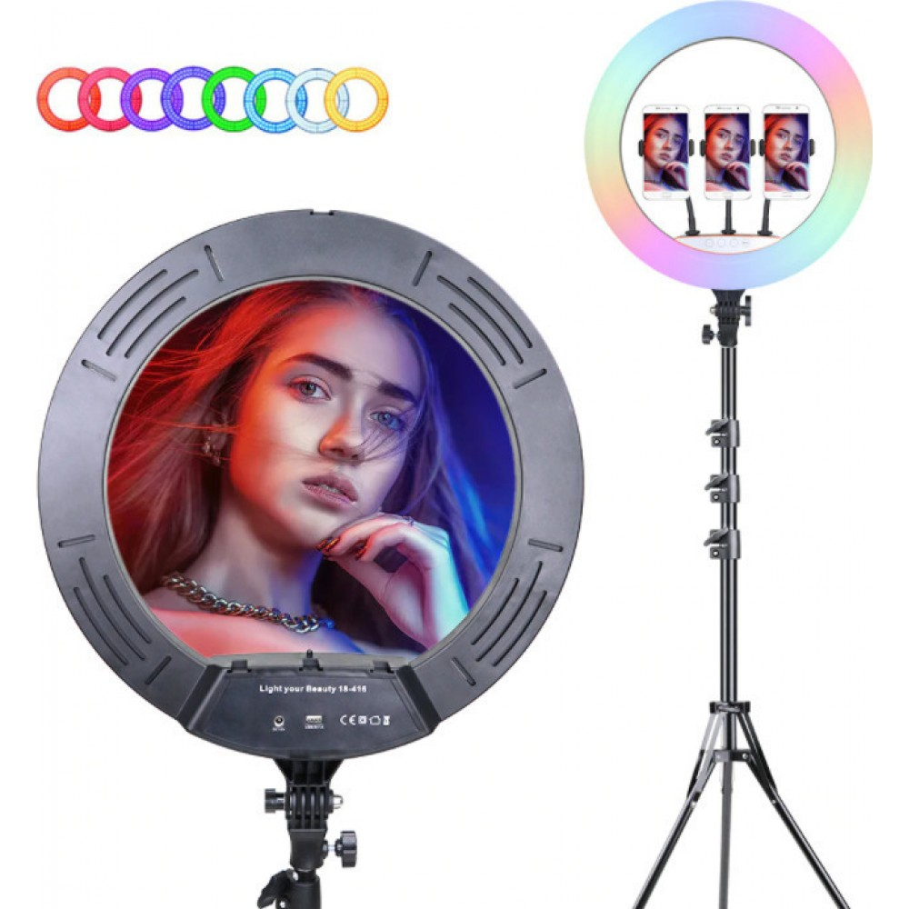 RGB Selfie Ring Light Light Your Beauty 18-416 45cm 17.71''in +2m ΤΡΙΠΟΔΟ